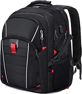 Laptop Backpack Extra Large Travel College Backpacks for Women Men Waterproof Business Computer Backpack with USB Charging Port Smart Scan Bookbag Fits 17 Inch Laptop Notebook Black