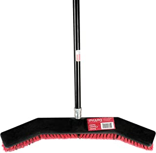 ROOT ASSASSIN Shop Broom/Push Broom, Keeps Debris Inside Broom, Best for Sweeping Kitchen Floors, Patios, Garages, Shops, Tile, Large Areas, and Wood Floors. Durable, Large, Light (Shop Broom)