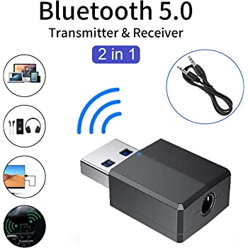 Bluetooth V4.1 Transmitter /& Receiver Wireless A2DP Audio 3.5mm Aux Adapter KK