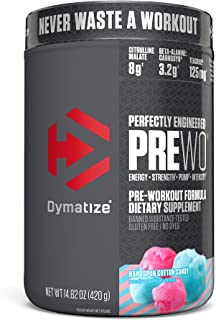 Sponsored Ad - Dymatize PreW.O., Pre Workout Powder with Caffeine, Maximize Energy, Strength & Endurance, Amplify Intensit...
