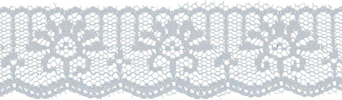 Decorative Trimmings White Flat Vertical Lace Trim 1-1/4