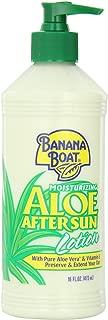 Banana Boat Aloe Vera Sun Burn Relief Sun Care After Sun Lotion - 16 Ounce (Pack of 4)