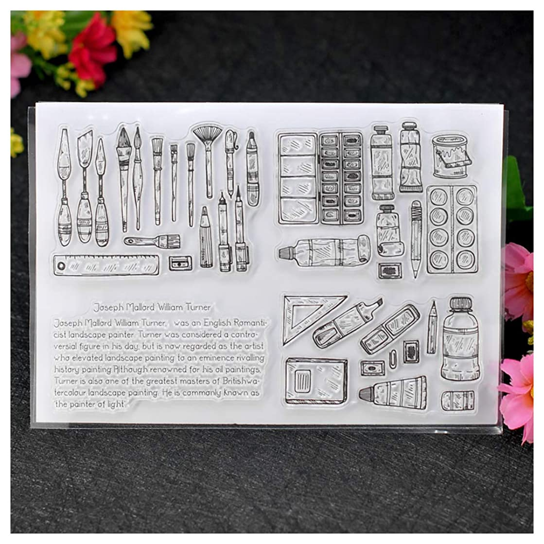 Kwan Crafts Painting Tools Clear Stamps for Card Making Decoration and DIY Scrapbooking