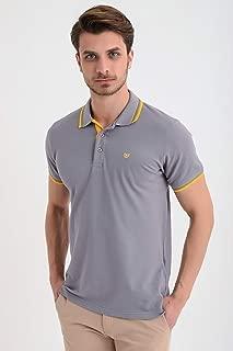 Basic Dinamik Fit Polo Yaka T-Shirt Koyu Gri