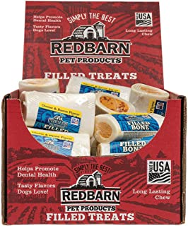 Redbarn Small Cheese and Bacon Filled Bone, Net Wt. 3.5 oz. ( 5-Pack )