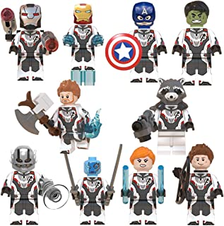 Superheros Toys for Kids, 10 Collectible Mini Avengers Action Figures, Marvel Legends Toy with Party Favors for Boys Girls Ages 3 Up, Iron Man Captain America Ant-Man, Christmas Holiday Toy List Gift