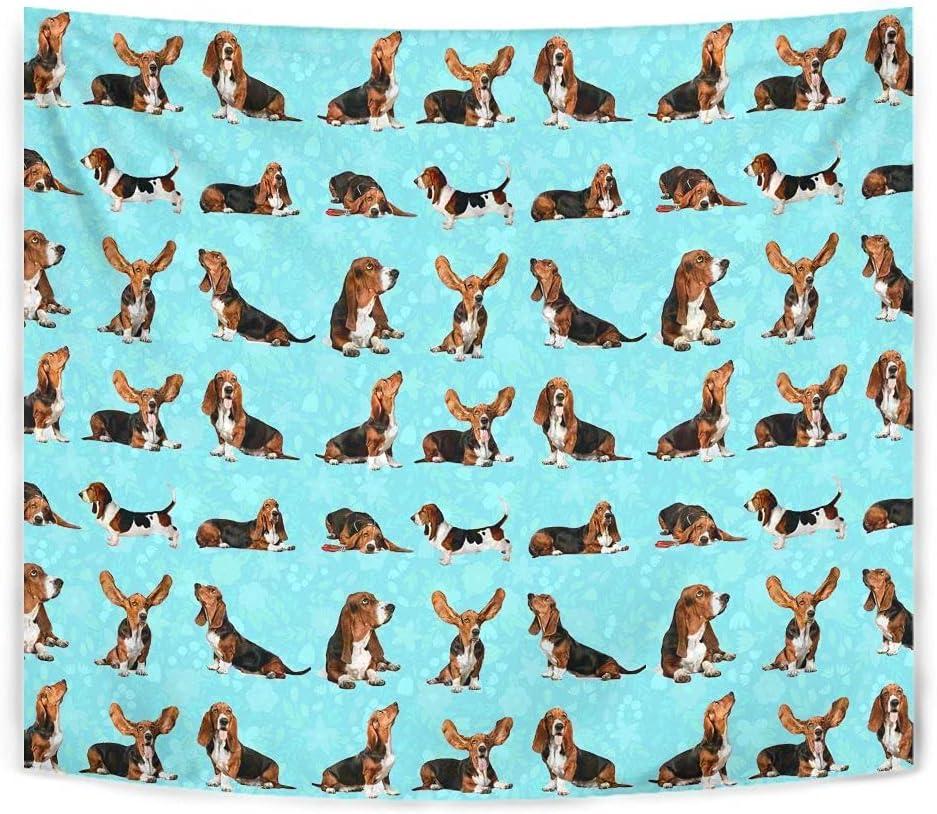 Basset Hound Dog Tapestry Some reservation Mail order Pattern Print