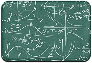 I Love Math Equation Doormat Anti-slip House Garden Gate Carpet Door Mat Floor Pads