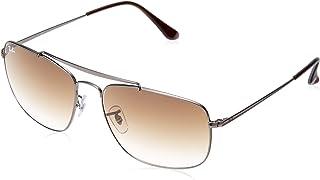 Ray-Ban Men's Steel Man Sungkass Square Sunglasses, Gunmetal, 60 mm