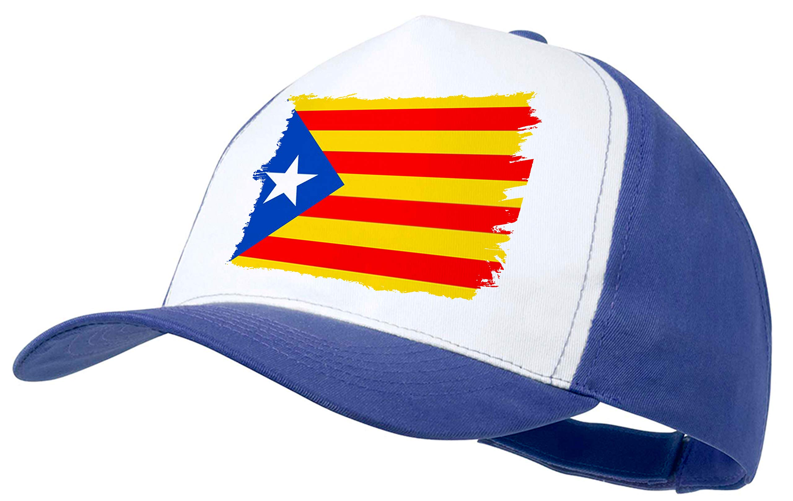 MERCHANDMANIA Gorra Azul Bandera CATALUÑA Independencia Color Cap ...