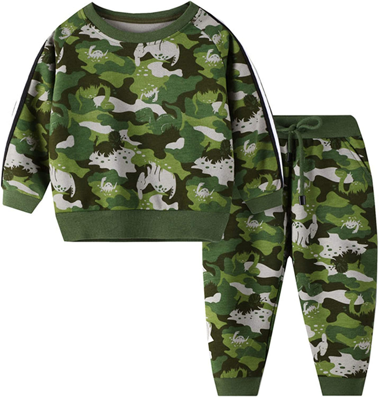 inhzoy Kids Girls Boys Sweatshirts Tops with Pants Set Sport Casual Outfits Exercise Tracksuit Activewear