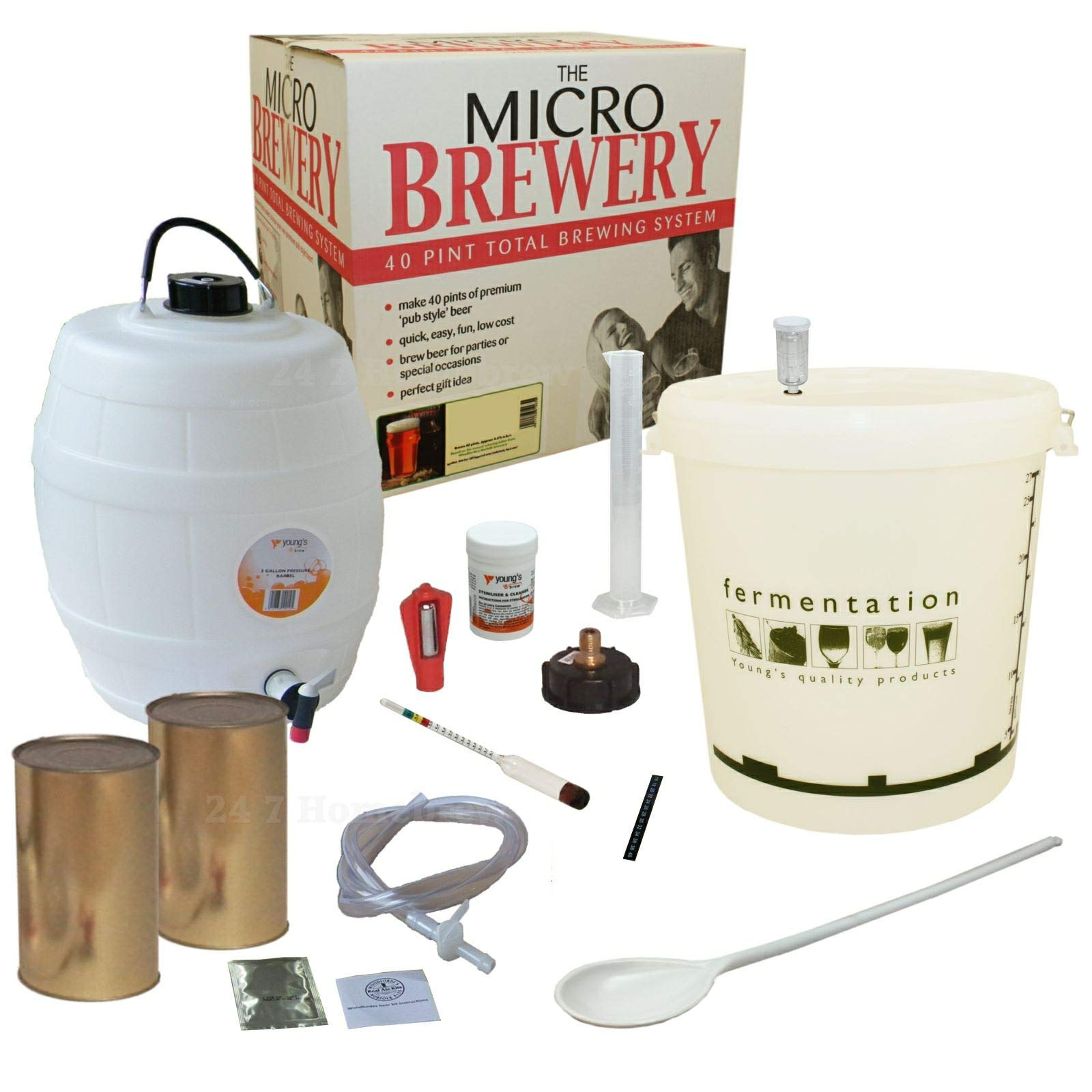 Nuevo Micro Pale Ale cerveza Kit para hacer 40 pintas de cerveza balliihoo Homebrew ideal regalo: Amazon.es: Hogar
