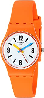 Women's BAU Quartz Silicone Strap, Orange, 12 Casual Watch (Model: LO114)