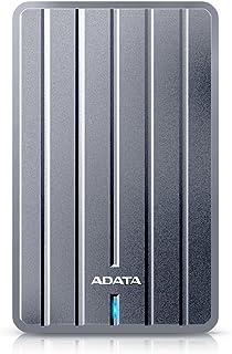 ADATA HC660 超薄型 USB3.0 ポータブルHDD 1TB チタンカラー 3年保証 AHC660-1TU3-CGY