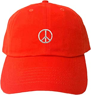 Adult Peace Sign Embroidered Dad Hat