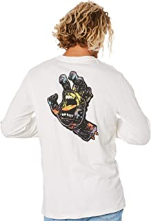 Santa Cruz Men's Hand Splatter Mens Ls Tee Crew Neck Long Sleeve Cotton White