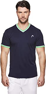 HEAD Men's Mesh V Neck Gym Tennis & Workout T-Shirt - Short Sleeve Activewear Top