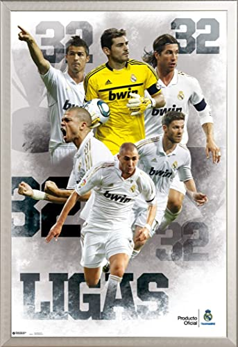 Real Madrid Poster Football 32ligas + accessoires de fixation