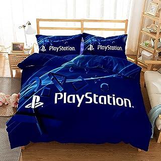 LXTOPN Playstation Parure De Lit avec Housse De Couette Et Taie d'oreiller, Ensemble De Literie Imprimée 3D 100% Microfibr...