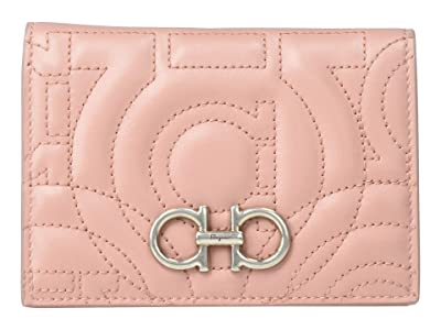 Salvatore Ferragamo Gancio City Card Case 22D665 (Antique Rose) Wallet