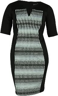 Connected Women's Split Neck Scuba Dress