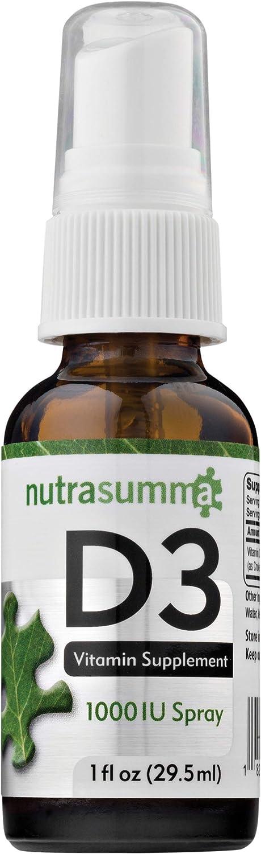 Nutrasumma Vitamin D3 1000 IU Spray Absorpt -1oz- High Naturally Free Shipping Cheap Bargain New sales Gift