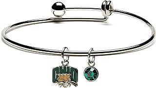 Ohio University Bracelet | Dangle Charm and Crystal | Officially Licensed Ohio University Jewelry