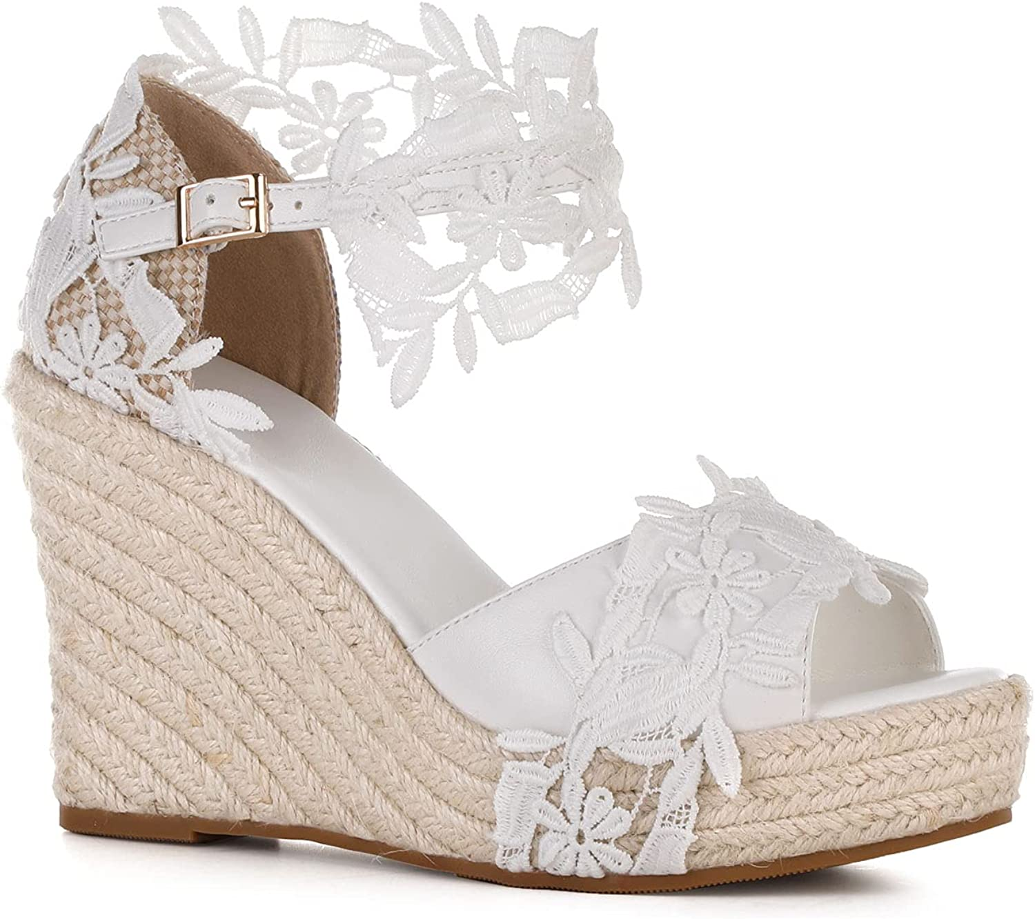 Women's Wedge Tucson Mall Platform Sandals Summer T Ankle Wedding Open Fees free Strap