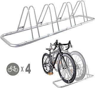 4 Bike Bicycle Floor Parking Rack Storage Stand