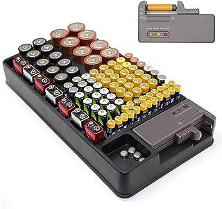 Förvaringslåda – kapacitet 98 batterier – inbyggd testare