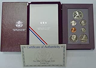 1992 S Prestige Proof Set 1992 Olympic Silver Dollar OGP