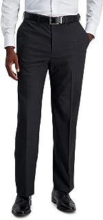 Haggar mens PLN TEXTURED GRID PANT Dress Pants
