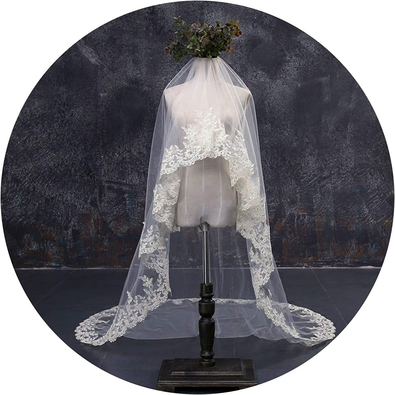 Champagne Long Veils One Layer 5M Bride Veil Long Schleier Accessories Wedding Voile,Champagne,500cm