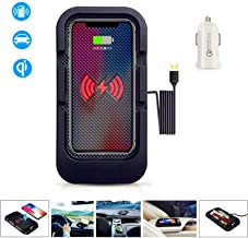 JE Silicone Wireless Car Charger, Car Phone Mount 10W Fast QI Charge Compatible iPhone11/11Pro/11Pro Max/Xs/XR/XS/X/8/8 Plus,Samsung Galaxy Edge/Note, All QI-Enbed (Included Car Charger 3.0)