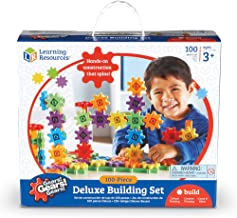 Learning Resources Gears! 100 Piece Deluxe Building Set, Construction Toy, Ages 3+