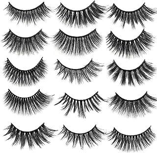 14 Pairs 3D False Eyelashes, Artificial Eyelashes for Makeup Eyelashes Extension 10#