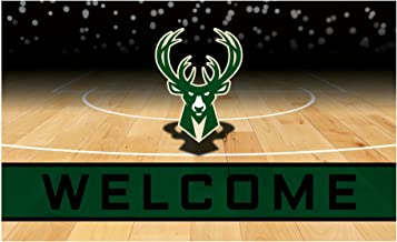 Fanmats 21956 Team Color Crumb Rubber Milwaukee Bucks Door Mat, 1 Pack