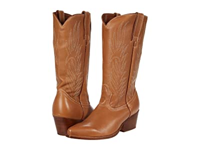 Steve Madden Cowboy Western Boot (Tan Leather) Women