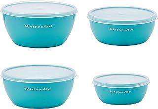 KitchenAid Classic Prep Bowls with Lids, Aqua Sky, KE176OSAQA, Set of 4