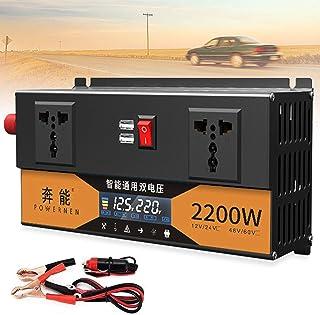 2200W 2600W 3200W Peak Sine Wave Power Inverter 12V/24V to 220V 220V 220V Dual Voltage Car Truck Voltage Converter with US...