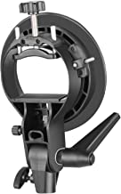 Neewer S-Type Bracket Holder with Bowens Mount for Speedlite Flash Snoot Softbox Beauty..