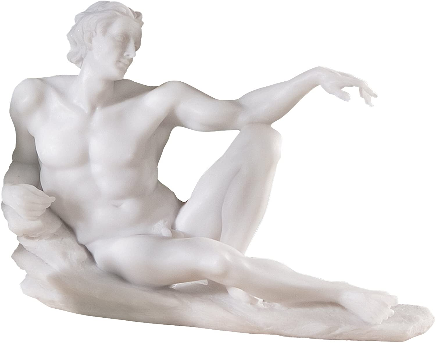 Design Toscano The Creation of Adam Bonded Marble Adam Statue