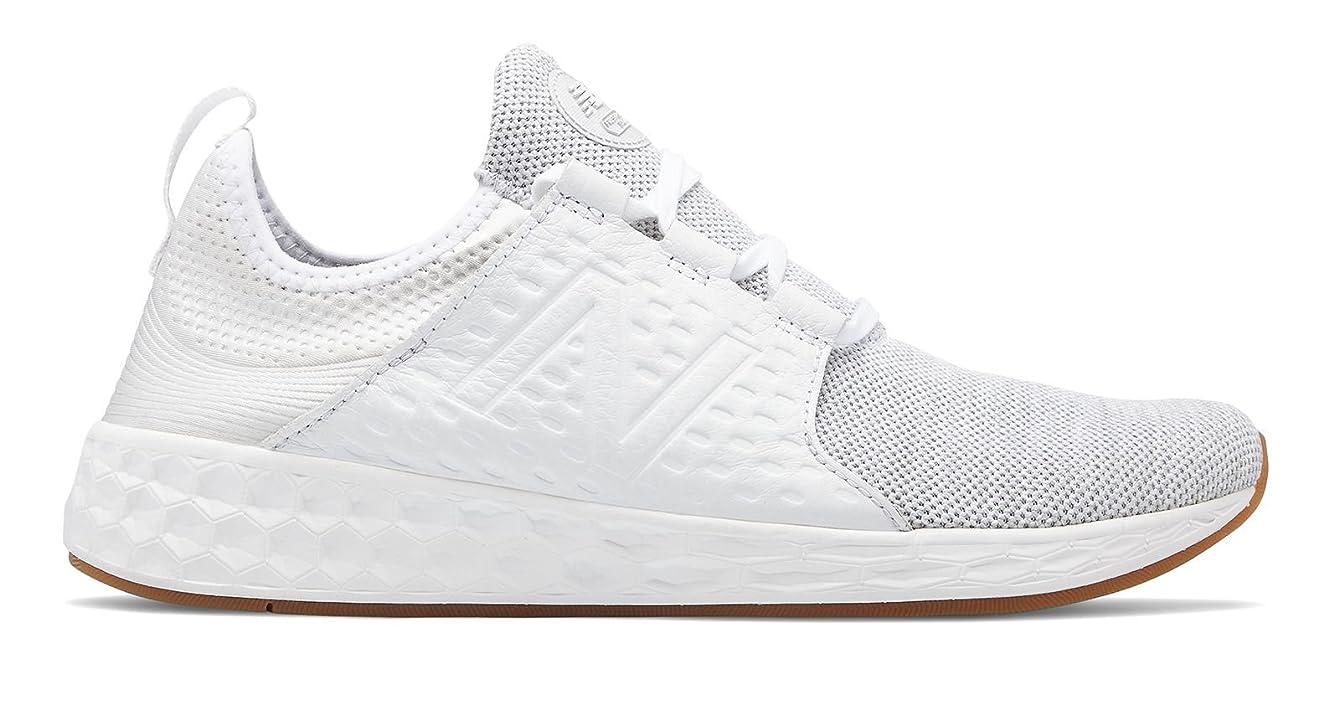 フライト中級ハイライト(ニューバランス) New Balance 靴?シューズ レディースライフスタイル Fresh Foam Cruz White Munsell with Silver Mink ホワイト シルバー ミンク US 10.5 (27.5cm)