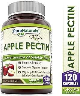Pure Naturals Apple Pectin Capsules, 1400 mg per Serving of 2 Capsules- 120 Capsules Per Bottle
