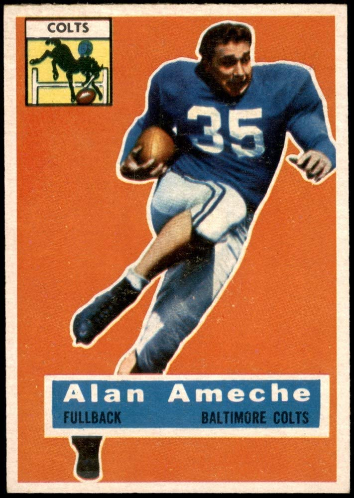 1956 Topps Sale At the price of surprise SALE% OFF # 12 Alan Ameche Football EX Baltimore Card Colts M