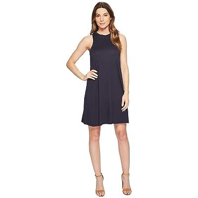 Alternative Cotton Modal Jersey A-Line Tank Dress (Midnight) Women