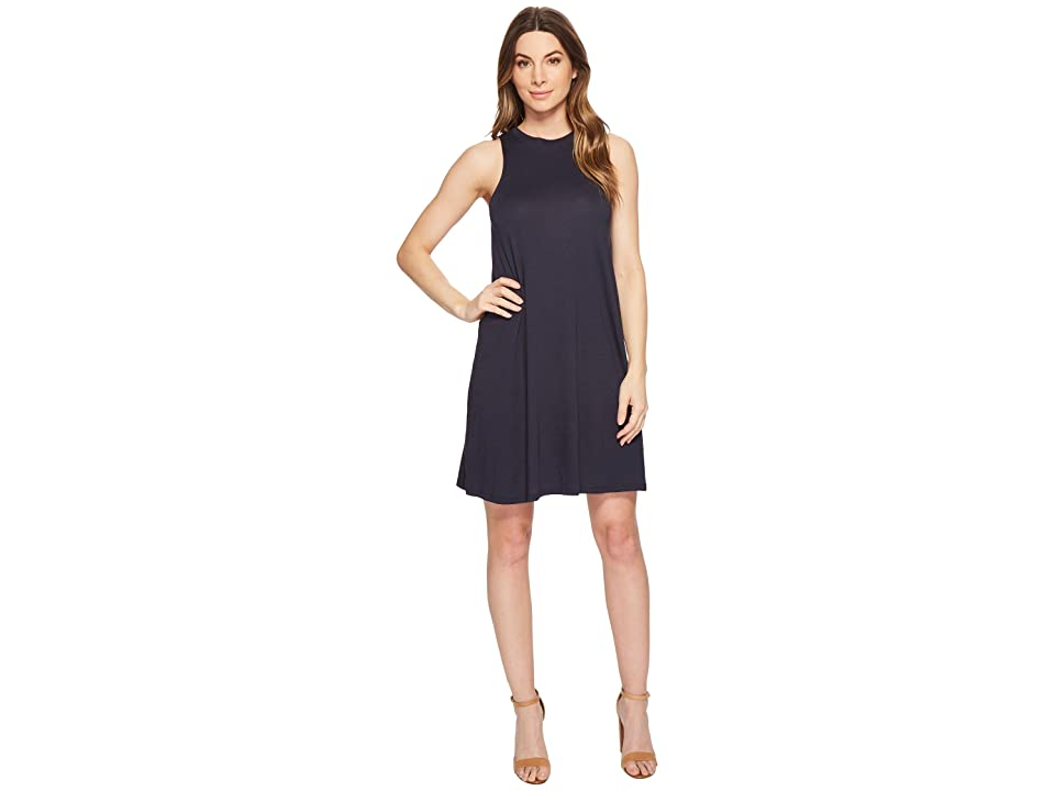 Alternative Cotton Modal Jersey A-Line Tank Dress (Midnight) Women