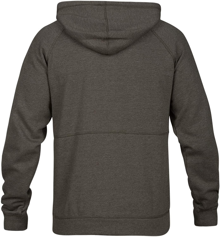 Hurley Mens Crone Marled Texture Hoodie Zip Fleece