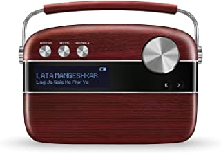Saregama Carvaan SC01/SC03 Portable Digital Music Player (Cherrywood Red)