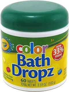 Crayola Color Bath Dropz 60 Tablets 3.59 Ounce Jar (6 Pack)